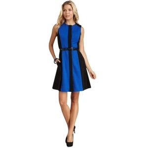 Vince Camuto Cobalt Sleeveless Colorblock Dress